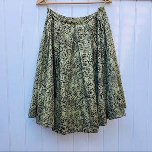 Anthropologie Odille Fit & Flare Skirt
